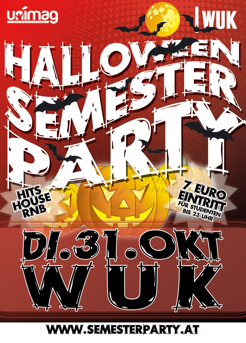 Halloween Semester Party 2017 - Di. 31. Oktober - WUK