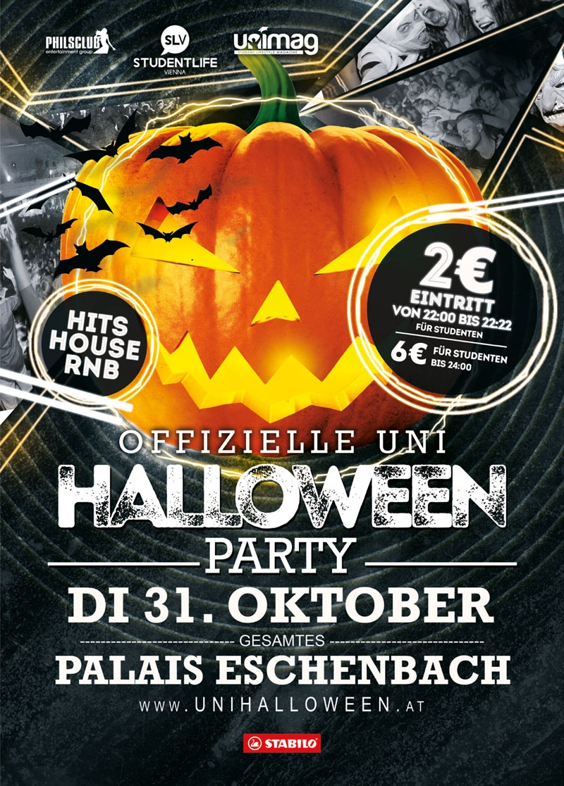 offizielle UNI HALLOWEEN PARTY 2017 - Di. 31. Okt. 2017