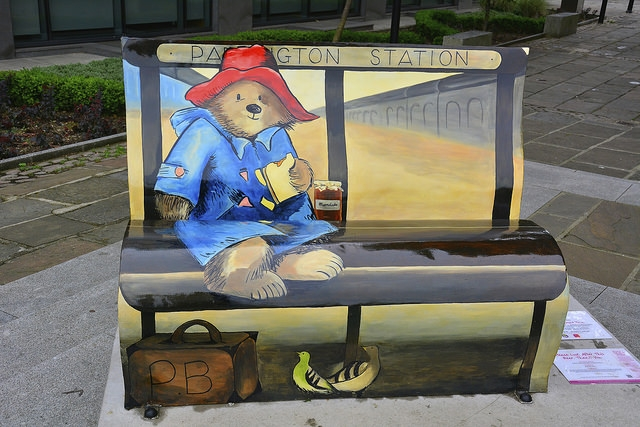 Paddington Bear BookBench