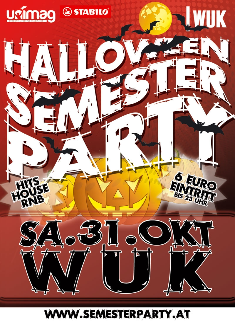 Halloween Semester Party - Sa. 31. Oktober - WUK