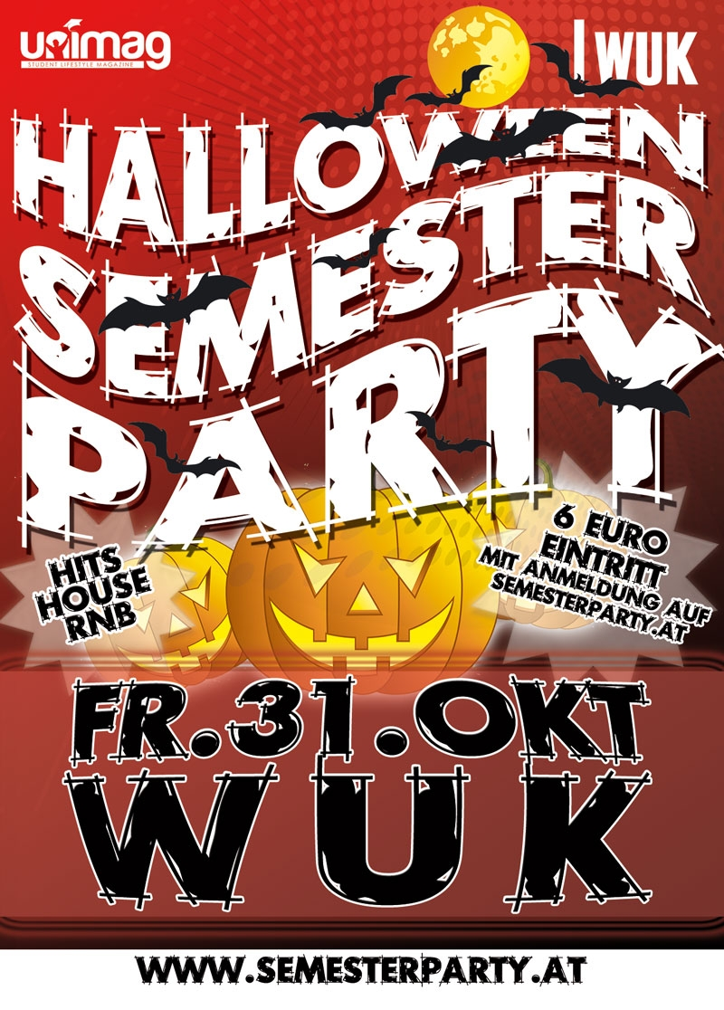 Halloween Semester Party - Fr. 31. Oktober - WUK