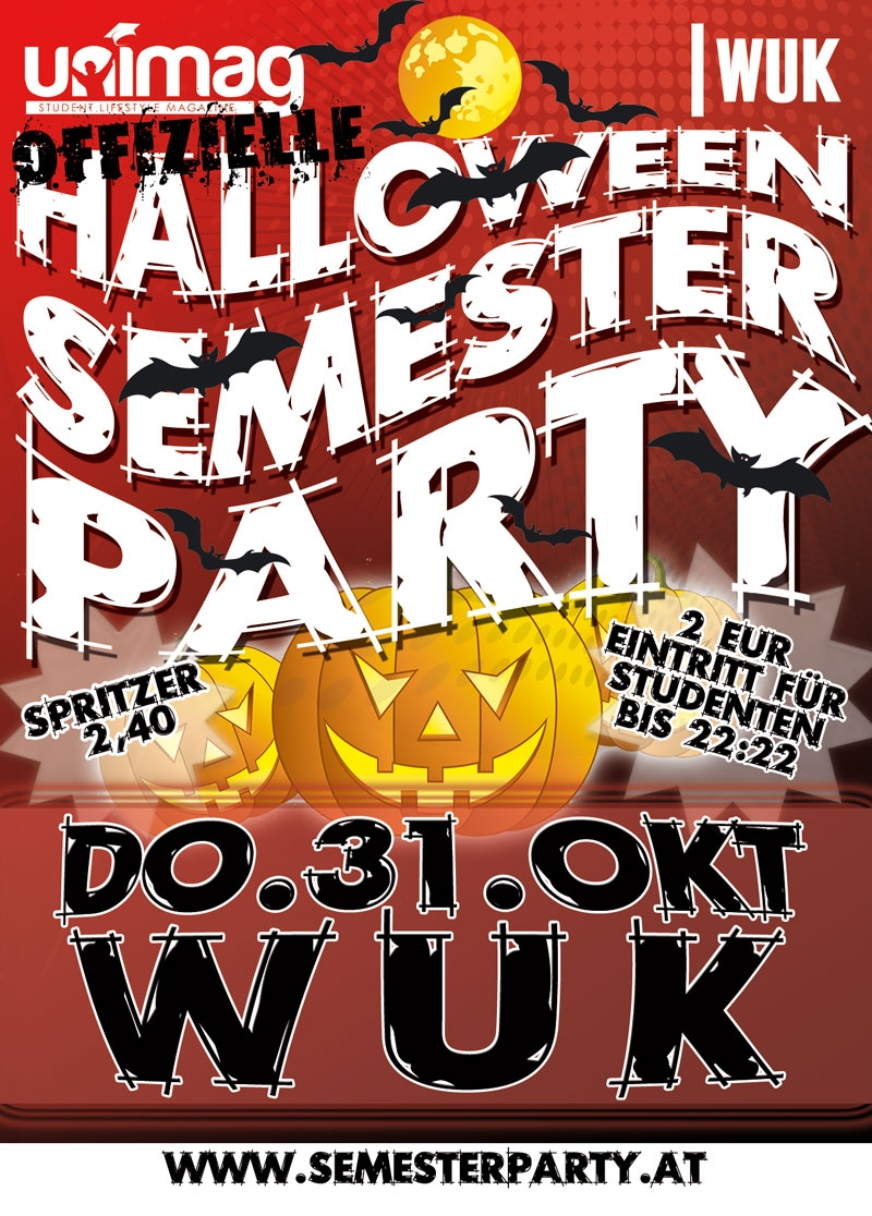 Halloween Semester Party - Do. 31. Okt - WUK
