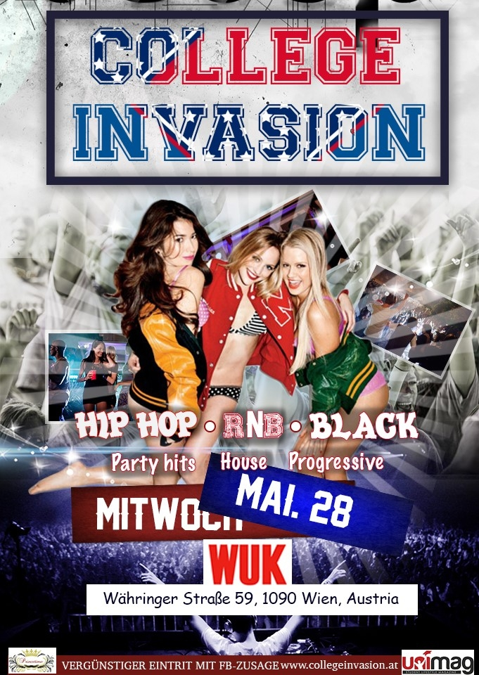 COLLEGE INVASION - MI 28. MAI - WUK